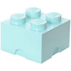 LEGO Förvaringslåda 4 (Ljusturkos)