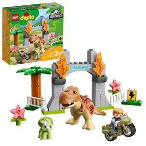 LEGO DUPLO Jurassic World 10939, T. rex och Triceratops rymmer